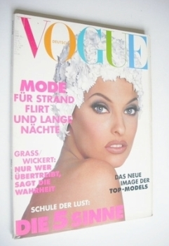 German Vogue magazine - May 1992 - Linda Evangelista cover