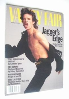 Vanity Fair magazine - Mick Jagger cover (February 1992)