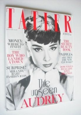 <!--2013-01-->Tatler magazine - January 2013 - Audrey Hepburn cover