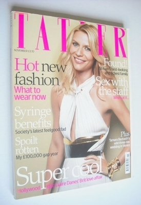 <!--2007-11-->Tatler magazine - November 2007 - Claire Danes cover