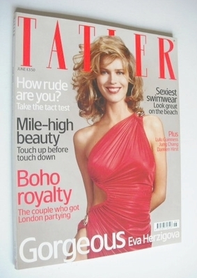 <!--2005-06-->Tatler magazine - June 2005 - Eva Herzigova cover