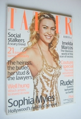 <!--2006-05-->Tatler magazine - May 2006 - Sophia Myles cover
