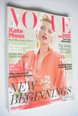 <!--2011-08-->British Vogue magazine - August 2011 - Kate Moss cover