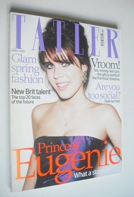 <!--2008-04-->Tatler magazine - April 2008 - Princess Eugenie cover