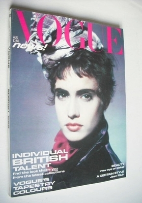 <!--1985-08-->British Vogue magazine - August 1985