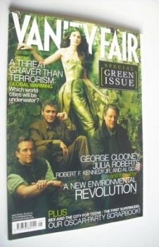 Vanity Fair magazine - George Clooney, Julia Roberts, Robert F. Kennedy Jr and Al Gore cover (May 2006)