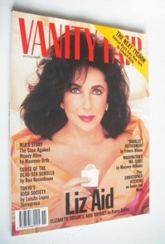 Vanity Fair magazine - Elizabeth Taylor cover (November 1992)