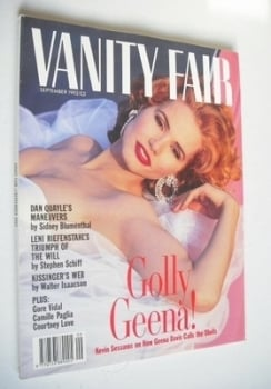 Vanity Fair magazine - Geena Davis cover (September 1992)