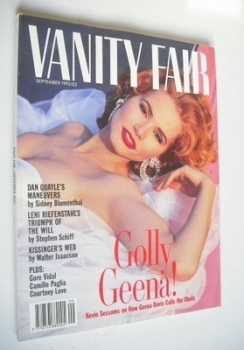 <!--1992-09-->Vanity Fair magazine - Geena Davis cover (September 1992)