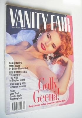 <!--1992-09-->Vanity Fair magazine - Geena Davis cover (September 1992)