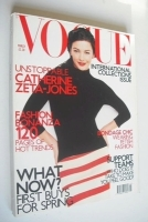<!--2001-03-->British Vogue magazine - March 2001 - Catherine Zeta Jones cover