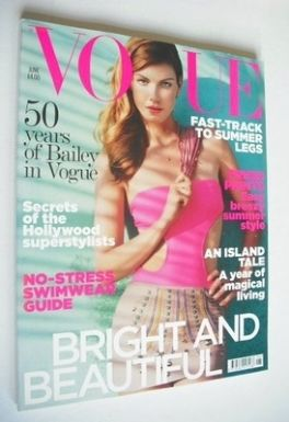 <!--2010-06-->British Vogue magazine - June 2010 - Angela Lindvall cover