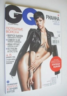 <!--2013-01-->Russian GQ magazine - January 2013 - Rihanna cover