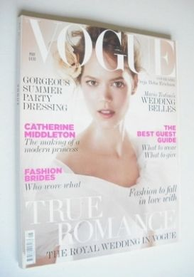 <!--2011-05-->British Vogue magazine - May 2011 - Freja Beha Erichsen cover