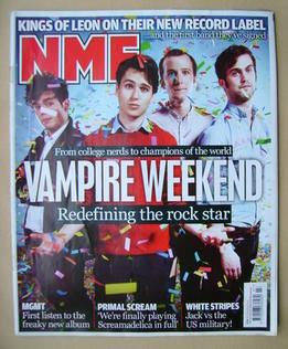 <!--2010-02-20-->NME magazine - Vampire Weekend cover (20 February 2010)