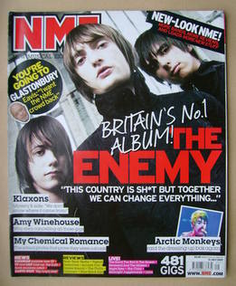 <!--2007-07-21-->NME magazine - The Enemy cover (21 July 2007)