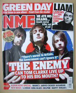 <!--2009-03-28-->NME magazine - The Enemy cover (28 March 2009)