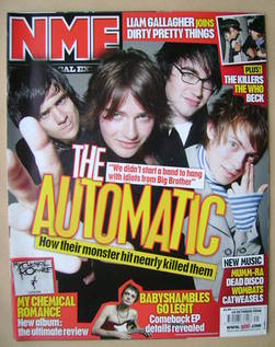 <!--2006-10-14-->NME magazine - The Automatic cover (14 October 2006)