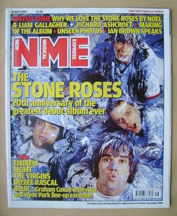 <!--2009-04-18-->NME magazine - The Stone Roses cover (18 April 2009)