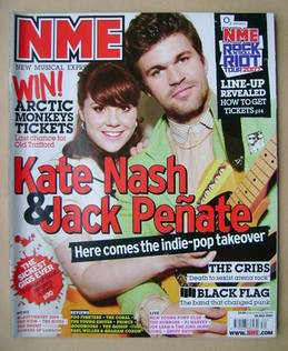 <!--2007-07-28-->NME magazine - Kate Nash and Jack Penate cover (28 July 20