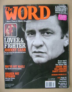 The Word magazine - Johnny Cash cover (February 2006)