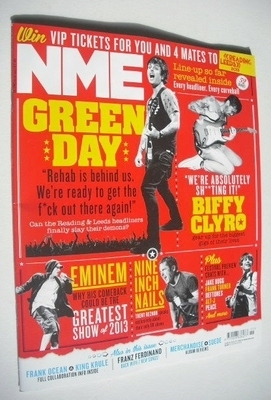 <!--2013-03-16-->NME magazine - Green Day cover (16 March 2013)