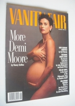 Vanity Fair magazine - Demi Moore cover (August 1991)