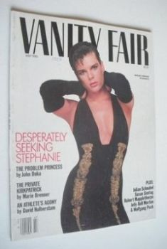US Vanity Fair magazine - Princess Stephanie cover (July 1985)