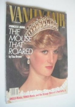 US Vanity Fair magazine - Princess Diana cover (October 1985)