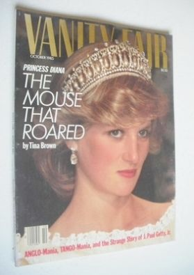 <!--1985-10-->US Vanity Fair magazine - Princess Diana cover (October 1985)