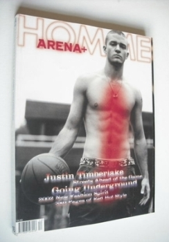 Arena Homme Plus magazine (Autumn/Winter 2001/2002 - Justin Timberlake cover)