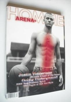 Arena Homme Plus magazine (Autumn/Winter 2001/2002 - Justin Timberlake cover)