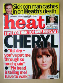 <!--2008-02-09-->Heat magazine - Cheryl Cole cover (9-15 February 2008)