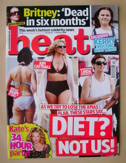 <!--2008-01-26-->Heat magazine - Diet? Not Us! cover (26 January-1 February