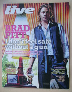 <!--2012-09-09-->Live magazine - Brad Pitt cover (9 September 2012)