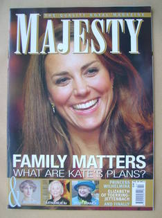<!--2013-02-->Majesty magazine - Kate Middleton cover (February 2013)