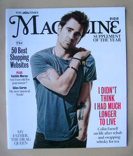 <!--2012-12-01-->The Times magazine - Colin Farrell cover (1 December 2012)