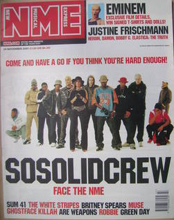 <!--2001-11-24-->NME magazine - So Solid Crew cover (24 November 2001)