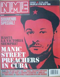 <!--2001-03-03-->NME magazine - James Dean Bradfield cover (3 March 2001)