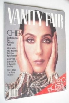 US Vanity Fair magazine - Cher cover (May 1986)