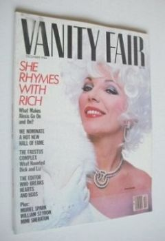 US Vanity Fair magazine - Joan Collins cover (December 1984)