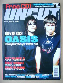 Uncut magazine - Liam Gallagher and Noel Gallagher cover (March 2000)