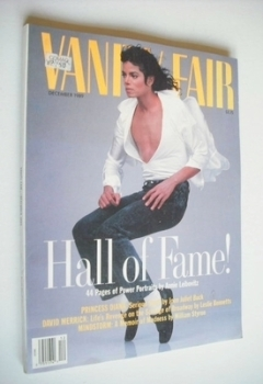 US Vanity Fair magazine - Michael Jackson cover (December 1989)