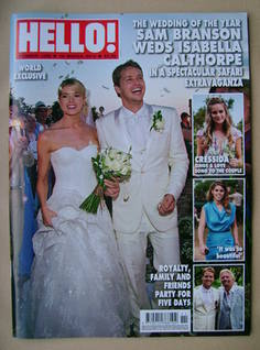 <!--2013-03-18-->Hello! magazine - Sam Branson and Isabella Calthorpe Weddi