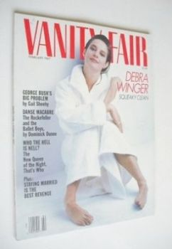 US Vanity Fair magazine - Debra Winger cover (February 1987)