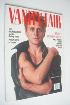 US Vanity Fair magazine - Mikhail Baryshnikov cover (January 1987)