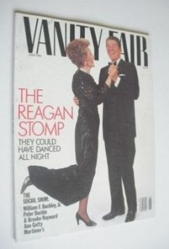 US Vanity Fair magazine - Ronald and Nancy Reagan cover (June 1985)