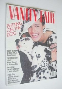 US Vanity Fair magazine - Shari Belafonte-Harper cover (May 1985)