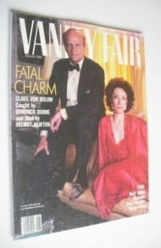 US Vanity Fair magazine - Claus Von Bulow and Andrea Reynolds cover (August 1985)