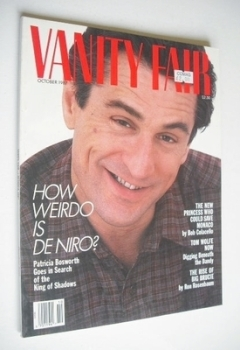 US Vanity Fair magazine - Robert De Niro cover (October 1987)